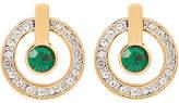 Susan Caplan Vintage 1980s 22ct Gold Plated Swarovski Crystal Round Drop Earrings, Gold/Green