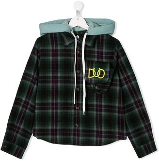 Duoltd Plaid Hooded Shirt