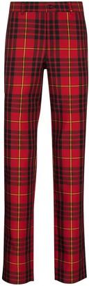 Comme des Garçons Homme Plus Tartan-Checks Skinny Trousers