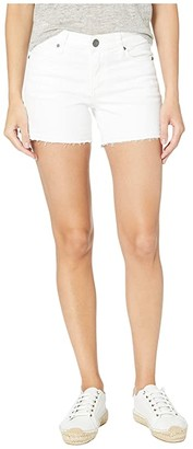 KUT from the Kloth Andrea Shorts Five-Pockets Released Hem in Optic White (Optic White) Women's Shorts