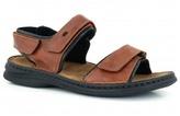 Josef Seibel Brown Rafe Leather Sandals