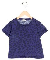 Acne Studios Girls' Cheetah Print Short Sleeve Top