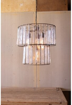 Bungalow Rose Woen 4-Light Drum Pendant