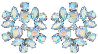 Susan Caplan Vintage 1950s Vintage G. Sherman Jewels Foliate Clip-on Earrings