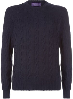 Ralph Lauren Purple Label Cable Knit Sweater