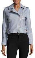 Bagatelle Solid Leather Jacket
