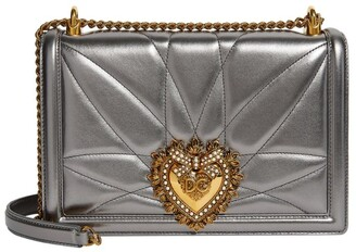 Dolce & Gabbana Medium Metallic Leather Devotion Bag
