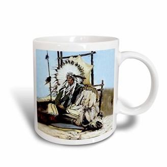3drose 3dRose Indian Chief, Ceramic Mug, 11-ounce