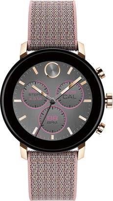 Movado Bold Connect 2.0 Chronograph Woven Strap Smart Watch, 40mm