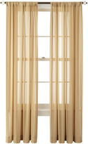 Royal Velvet Cherise Rod-Pocket Sheer Curtain Panel