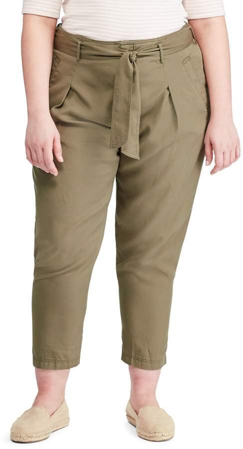 Lauren Ralph Lauren Plus Classic Twill Pants