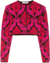 Mary Katrantzou Alaskai cropped textured-knit cardigan