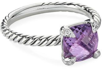 David Yurman Chatelaine Cushion Ring with Diamonds