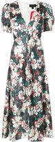 Saloni Lea V-neck midi dress