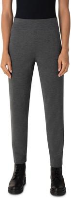 Akris Punto Metallic Tuxedo Stripe Stretch Merino Wool Ankle Sweater Pants