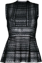 M Missoni embroidered knitted top - women - Cotton/Polyamide/Polyester/Viscose - 40
