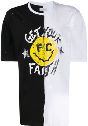 Faith Connexion oversized split T-shirt