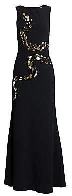 Roberto Cavalli Women's Silk Satin & Tulle Embellished Gown