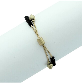 Olivia Welles Ali 14K Worn Gold Plated Sliding Bracelet