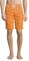 Peter Millar Fly Fishing Swim Trunks, Orange