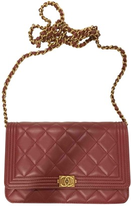 Chanel Wallet on Chain Burgundy Leather Clutch bags