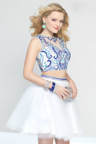 Alyce Paris - 4446 Dress In White Blue