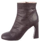 Jill Stuart Python Ankle Boots