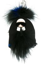 Fendi mini 'Karlito' backpack bag charm - men - Calf Leather/Mink Fur/Nylon - One Size
