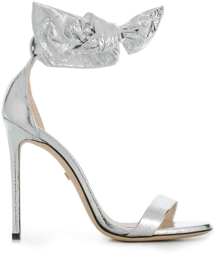 Grey Mer open-toe heeled sandals