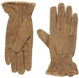 Isotoner Women's Suede Gloves with Gathered Wrist