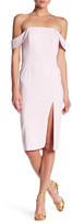 Jay Godfrey Off-the-Shoulder Midi Dress
