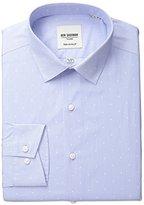 Ben Sherman Men's Polka Dot Shirt with Spread Collar