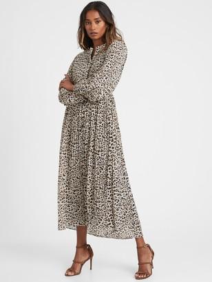 Banana Republic Pleated Midi Shirt Dress