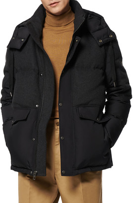 Andrew Marc Men's Rhodes Mid-Length Down Puffer Jacket