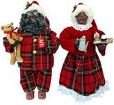 Santa's Workshop 15″ 2 Piece Black Pajama Clauses Set