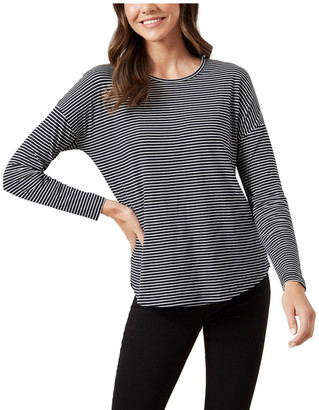 French Connection Stripe Long Sleeve T Shirt