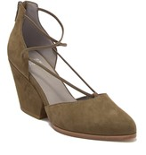 Eileen Fisher Rope Ghillie Lace Block Heel
