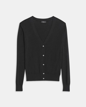 Theory V-Neck Cardigan in Regal Wool