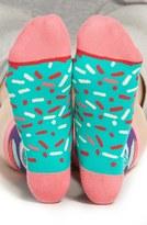 Women's Woven Pear Cupcake Crew Socks
