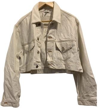 Ganni White Denim - Jeans Jackets