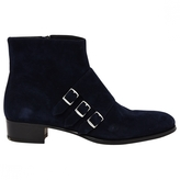 Hermes Navy Suede Ankle boots