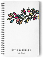 Minted Color Flower Stem Day Planner, Notebook, or Address Book