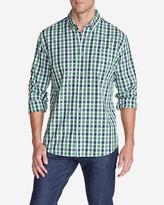 Eddie Bauer Men's Legend Wash Long-Sleeve Poplin Shirt - Pattern