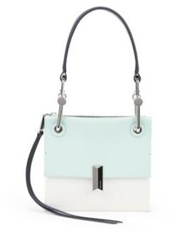 HUGO BOSS Italian-leather mini shoulder bag with signature hardware