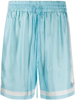 Casablanca Contrasting-Trim Drawstring Shorts