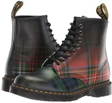 Dr. Martens 1460 Tartan Core Print (Red Stewart/Black Watch Tartan Backhand Straw Grain) Shoes