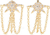 Elizabeth and James Rigel gold-tone crystal earrings