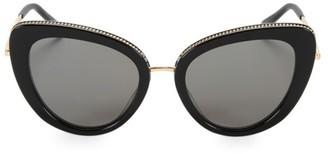 Stella McCartney 50MM Chain-Embellished Separated Cat Eye Sunglasses