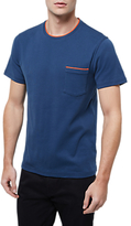 Jaeger Cotton Contrast Trim T-shirt, Navy