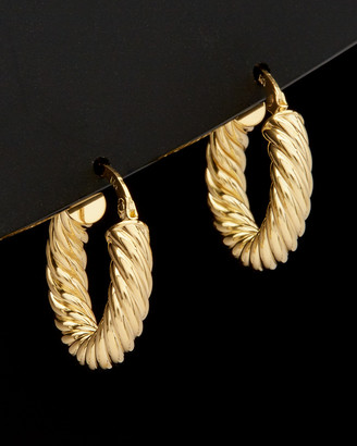 Italian Gold 14K Twisted Round Hoops
